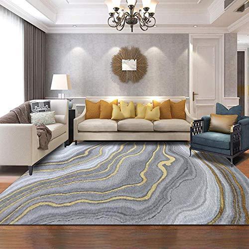 Tapijten Gemakkelijk op te bergen Tapijten Grijs geel abstracte inkt graffiti golf ontwerp woonkamer tapijt Gemakkelijk te onderhouden Soft touch Babykamer tapijt 300*400cm