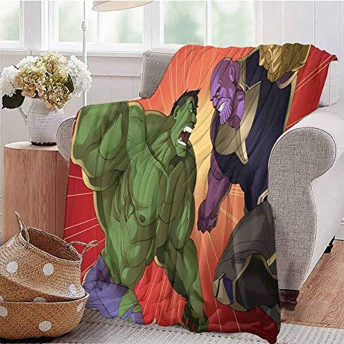 Housedecor - Coperta morbida Hulk e Thanos Tm, comoda e calda, 50 x 30 cm