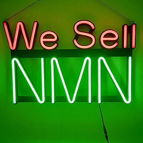 22 x 14 inches LED NMN Neon Open Sign We Sell NMN LED Sign Ultra Bright LED Neon with Metal Chain and Hooks with Sucker Hangs for bar bar Store Shop Windows Sign (Green NMN)