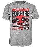 Marvel Comics POP! Tees T-Shirt Deadpool Mercenary For Hire Size L Funko shirts
