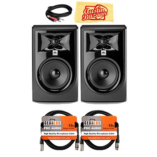 Review JBL 308PMKII 8 2-Way Powered Studio Monitor Bundle with 2 Speakers, 2 XLR Cables, Stereo Bre...