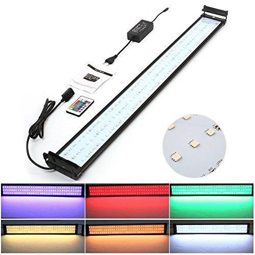 Amzdeal Lámpara Acuario Luces Impermeable LED paraAcuarios de Peces