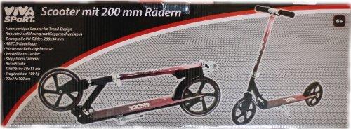 VIVA SPoRT - Scooter 200mm-Räder 59x11cm Trittfläche bis 100kgf belastbar 92x34x100cm ISH 73120021