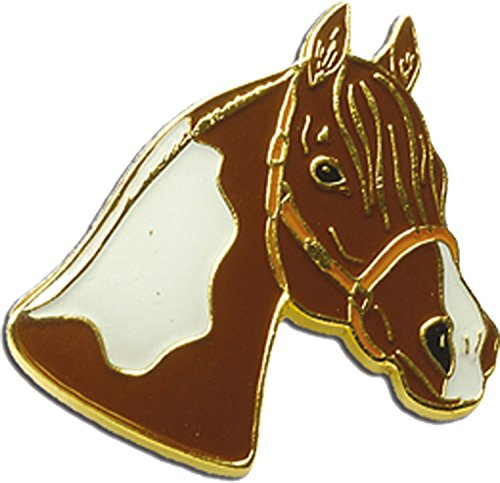 Blue Bug Gifts - Spilla a tema equitazione Cheval Tête de Pinto