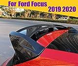 HJHNB Alerón Trasero del Coche del ABS Rear Spoiler para Ford Focus 2019 2020, Borde del Maletero de la Ventana de la Tapa del Maletero del Techo,CarbonfiberLook
