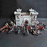 XHXseller - Juego de accesorios de construcción de modelos, kit de construcción y juguete de castillo medieval mágico, castillo medieval medieval de la Edad Media, Fuerte Militar de plástico