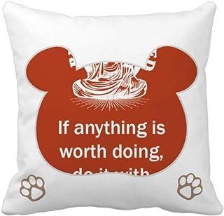 OFFbb-USA Word Value Devote Energy Bear - Funda cuadrada para almohada