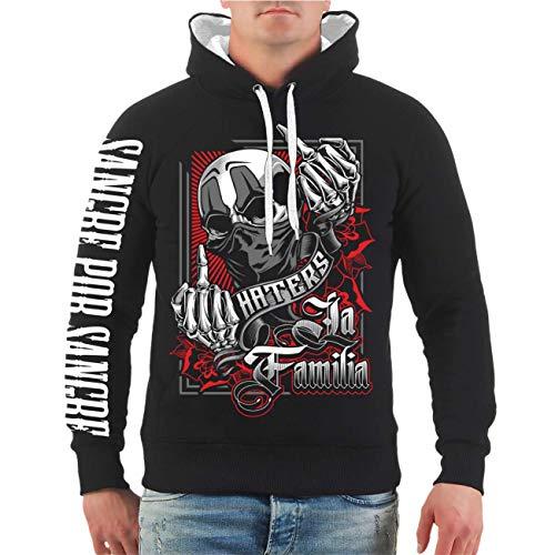 Life Is Pain Männer und Herren Kapuzenpullover La Familia Haters (mit Rückendruck) Größe S - 4XL