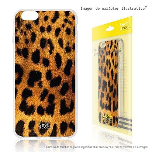 Funnytech® Funda Silicona para Lenovo K3 Note [Gel Silicona Flexible, Diseño Exclusivo] Textura Leopardo Marron