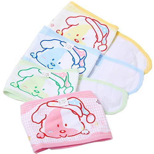 Biluer 8PCS Cinturón Ombligo Bebé Umbilical Bebé Vientre Cinturón Recién Nacido Protector Baby Bellyband Bebé Banda para Bebés/Niños/Recién Nacidos(Cuatro Colores)