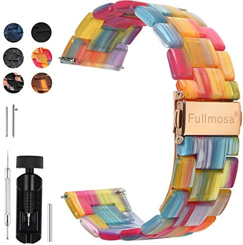 Fullmosa Quick Release Watch Band 22mm Resin watch band Bracelet for Samsung Gear S3 Classic product image