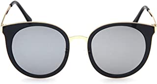 LUKEEXIN Exquisite Cat Eyes Lady's Polarized Sunglasses TR90 UV Protection for Driving (Color : Sliver)