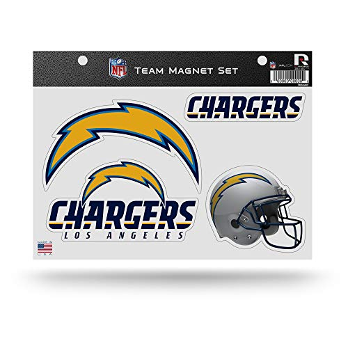 NFL Rico Industries Die Cut Team Magnet Set Sheet, Los Angeles Chargers