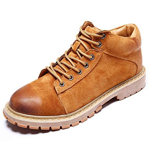 Zapatos de Cordones Hombre Botas Chukka Ante Tela Botines Cómodos Antideslizantes para Aire Libre Casual Trabajos Trekking Marrón EU 39