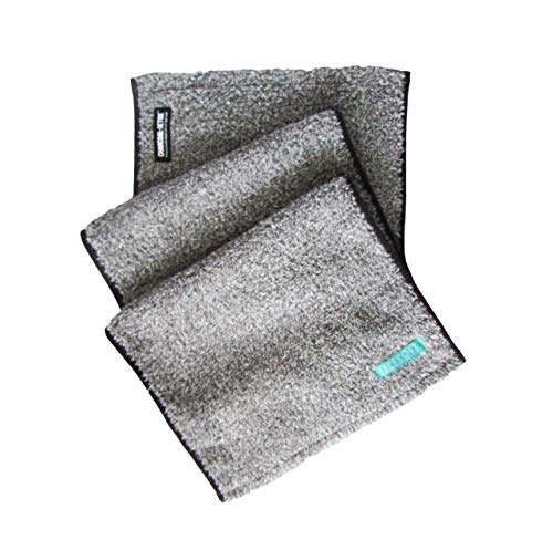 FACESOFT Activated Charcoal   Personal Yoga Sweat Towel: Naturally Infused   Detox Your Skin   Free of Harmful MicroFibers