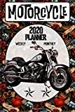 Motorcycle 2020 Planner Weekly Monthly: Old School Harley Davidson Fatboy Softail on the go organizer 6 x 9 inches Matte Cover (Jan 1, 2020 to Dec 31, 2020)