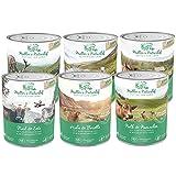 Müllers Naturhof   Mix   6 x 800 g   Nassfutter für alle Hunderassen   getreidefrei und glutenfrei   mit Gartengemüse und Wiesenkräutern   naturnahe Rezeptur mit 65% Fleisch