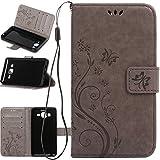 Galaxy ON5Fall, harryshell PU Leder Brieftasche Flip Tasche Schutzhülle mit Card Slots und Ständer für Samsung Galaxy ON5G550G5500, A-01
