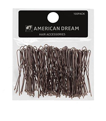 Fermagli ondulati American Dream, colore marrone 5cm, confezione da 100