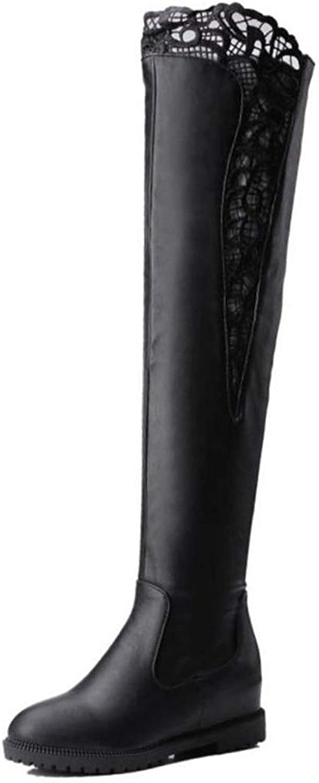 Georpe cuisse bottes bottes bottes haut zippé en fourrure en hiver  populär