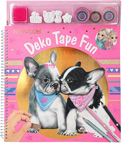 Depesche 10734 Malbuch Deko Fun mit Masking Tapes, TOPModel Hund, ca. 31 x 26 x 2,5 cm, bunt