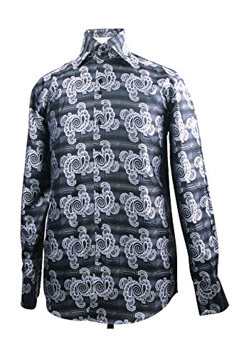 Men's Fashion Forward Fancy Shirt - Black L