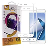 Guran [2 Pezzi Pellicola Vetro Temperato per ASUS Zenfone 4 ZE554KL Smartphone Copertura Completa 9H Durezza Anti-Impronte HD Pellicola Protettiva - Bianco