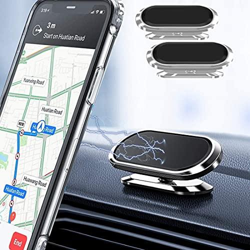 Supporto Per Cellulare Da Auto , 360° Di Rotazione Supporto Auto Smartphone( 2Pack ) ,Con Dashboard Magnetic Mobile Phone Holder, Adatto per iPhone Huawei Samsung, GPS ecc.