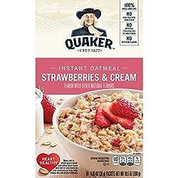Quaker, Instant Oatmeal, Strawberries And Cream, 10.5 Oz