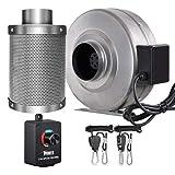 iPower 10,2cm 206CFM Ventilateur axial Filtre...
