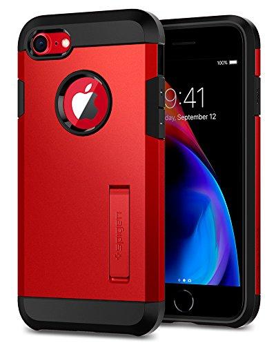 Spigen® Tough Armor Kompatibel mit 2 iPhone 8/7 Hülle, Extrem Fallschutz Doppelschutz Stoßfest Schutzhülle iPhone 8/ iPhone 7 Case Rot