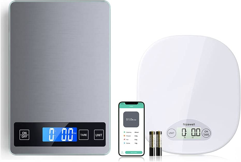 Nicewell Kitchen Grey Stainless Steel Scale and Smart Nutrition