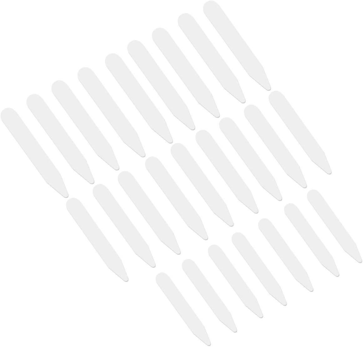 VORCOOL 200pcs Plastic Max 51% OFF Mail order White Collar Stays Bones Stiff Shirts for