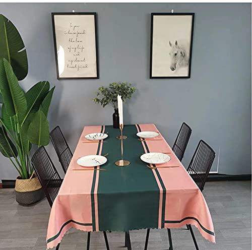 Nappe imperméable Nappe rectangulaire Nappe Table à Manger Couverture cheminée comptoir 140X220Cm