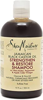 Shea Moisture Jamaican Black Castor Oil Strengthen And Restore Shampoo For Unisex, 384 ml