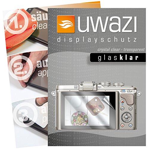 uwazi I 5X Glas-klare Schutzfolie für Olympus Pen E-PL8 Displayschutzfolie I Folie I Anti Fingerabdruck I Anti Kratzer