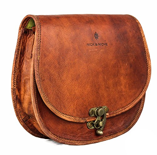 NICK & NICHE Sling Handcrafted Vintage Style Echtes Leder Handtasche umhängetasche damen leder
