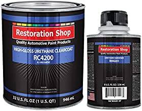 Restoration Shop 4.2 VOC High Gloss Urethane Clear Quart Kit with Hardener