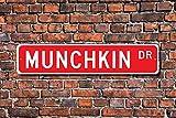Unnow Munchkin, Munchkin Lover, Munchkin Schild, Munchkin Owner, Munchkin Geschenk, Munchkin Cat Decor, Custom Street Schild, hochwertiges Metallschild