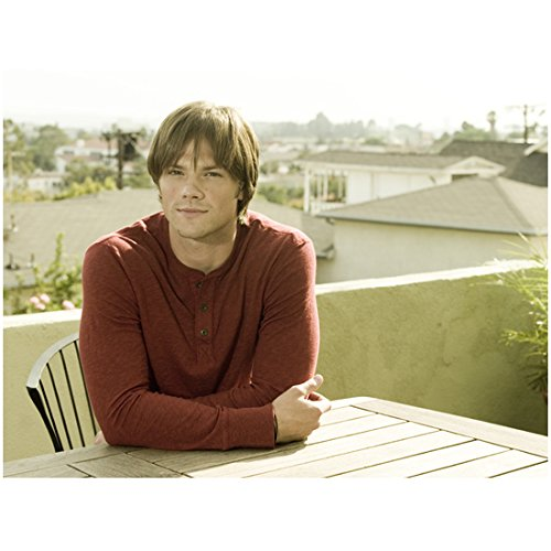 Supernatural Jared Padalecki as Sam Winchester Seated at Table with Nice Smile 8 x 10 Photo
