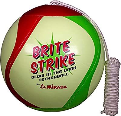 Mikasa Glow in the Dark outdoor tetherball, green/red/Smart Glo