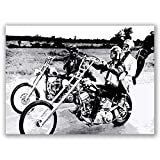 Box Prints Easy Rider Film Vintage Retro-Stil Kunst Poster