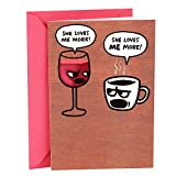 Hallmark Shoebox Funny Birthday Card for Her (Wine and Coffee) bags for moms Apr, 2021
