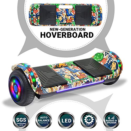 Beston Sports Newest Generation Electric Hoverboard Dual Motors Two Wheels Hoover Board Smart self Balancing Scooter with Built in Speaker LED Lights for Adults Kids Gift (-Image 5)