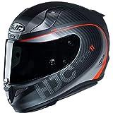 HJC Helmets Herren Nc Motorrad Helm, Schwarz/Rot, M