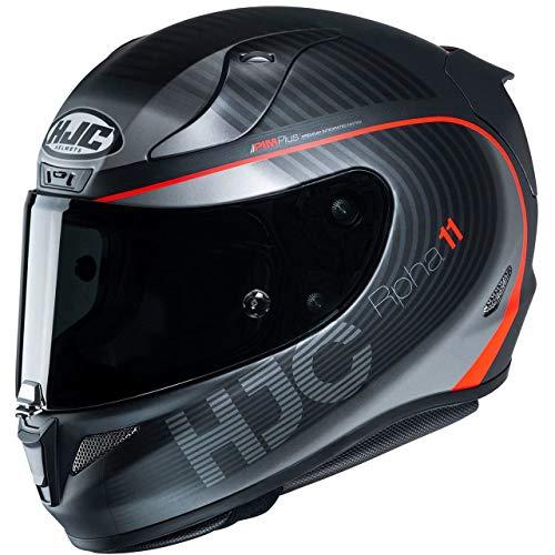 HJC Helmets Herren Nc Motorrad Helm, Schwarz/Rot, L