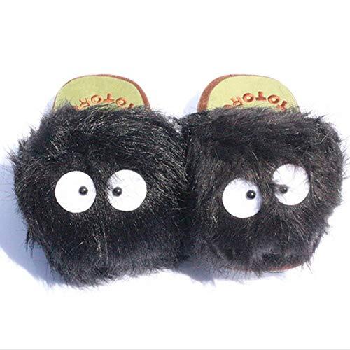 zcm Plüschtier 1 Paar 11 dult Plüschtier Puppenpantoffel Totoro Hausschuhe Totoro Staubpantoffeln