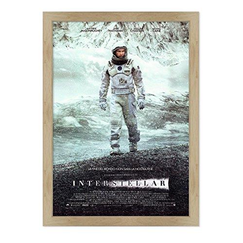 ConKrea - Póster Original de Cine con Marco – Enmarcado – Interstellar – Tamaño 70 x 100 cm