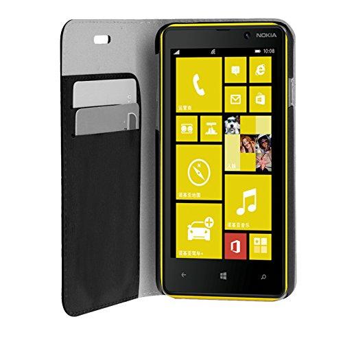Phonix Öko-Leder Buch-Hülle für Nokia Lumia 730 schwarz
