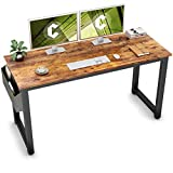 Cubiker Computer Desk 55' Modern Sturdy Office Desk Large Writing Study Table for Home Office with Extra Strong Legs, Rustic